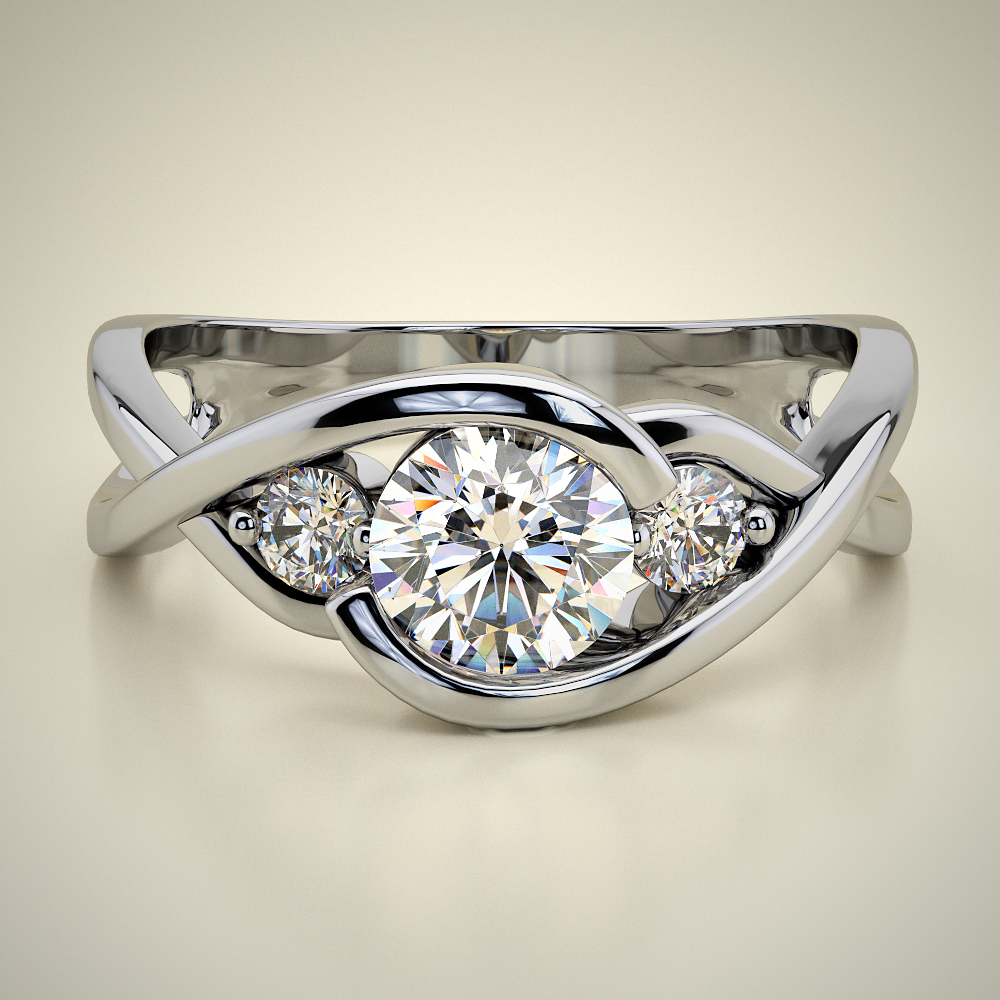 SIDE STONES ENGAGEMENT  RING ENG063