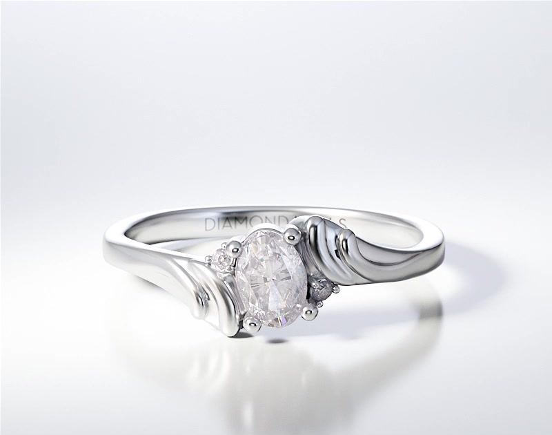 PAVE SOLITAIRE RING ENG053