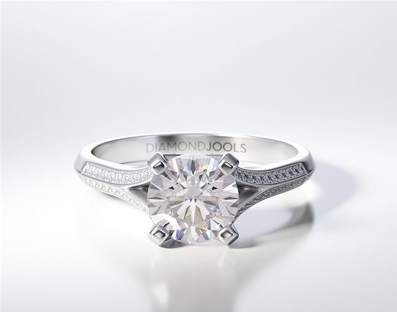 PAVE SOLITAIRE RING ENG078