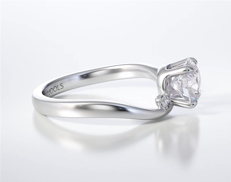 PAVE SOLITAIRE RING ENG016