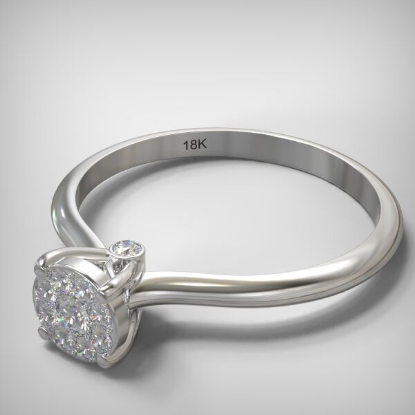 Invisible ring EM013-0,14ct