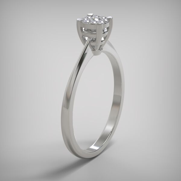 Invisible ring EM045-0.14ct