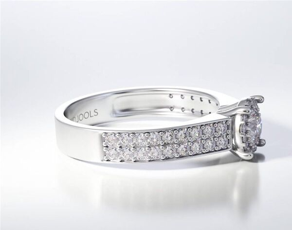 PAVE SOLITAIRE RING ENG042