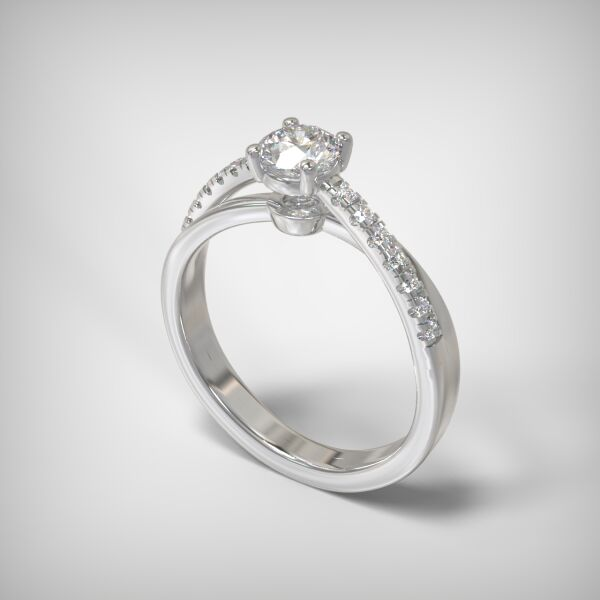 PAVE SOLITAIRE RING   ENG141