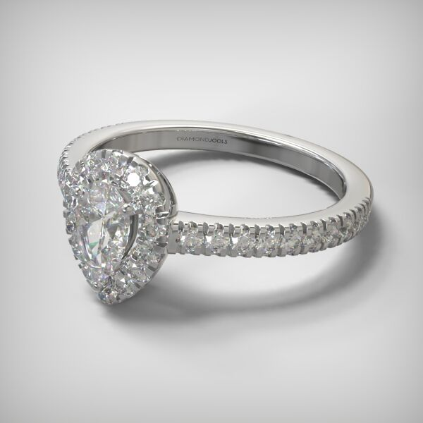 PAVE SOLITAIRE RING  ENG142