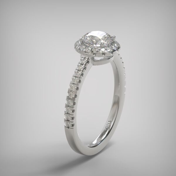PAVE SOLITAIRE RING  ENG143