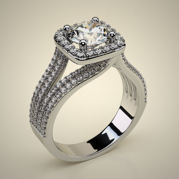 PAVE SOLITAIRE RING ENG037