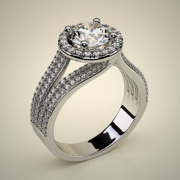 PAVE SOLITAIRE RING ENG039