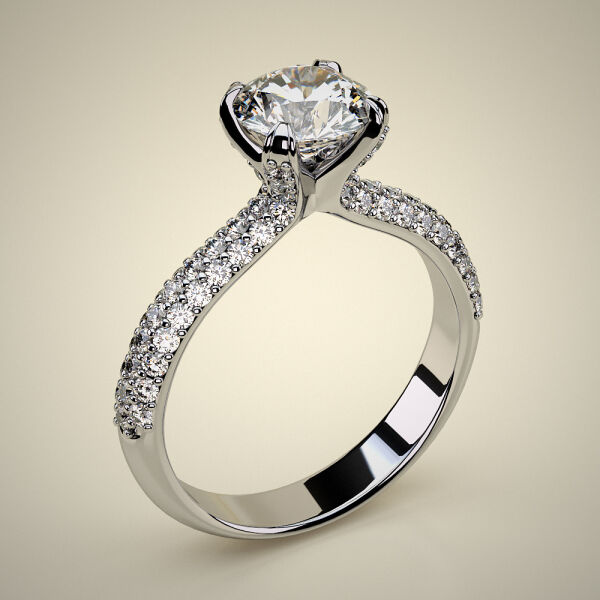 PAVE SOLITAIRE RING ENG041