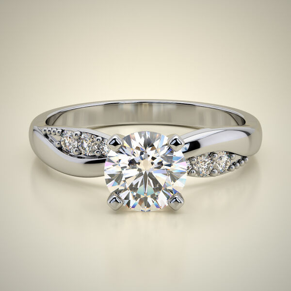 PAVE SOLITAIRE RING ENG043