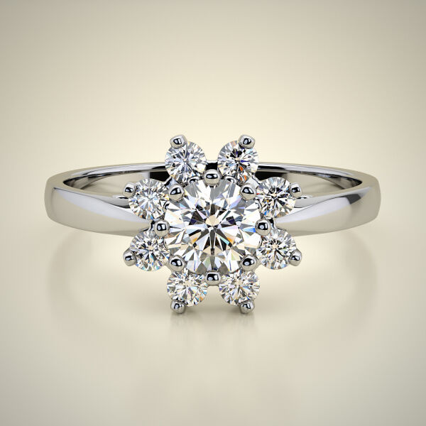 PAVE SOLITAIRE RING ENG044