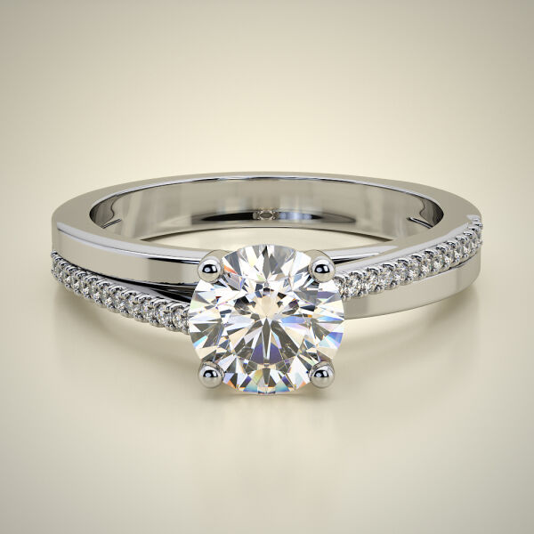 PAVE SOLITAIRE RING ENG046