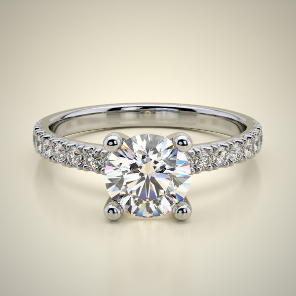 PAVE SOLITAIRE RING ENG048