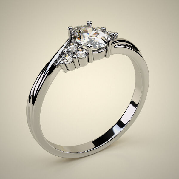 PAVE SOLITAIRE RING ENG052