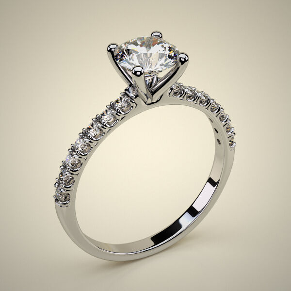PAVE SOLITAIRE RING ENG060