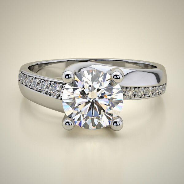 PAVE SOLITAIRE RING ENG079