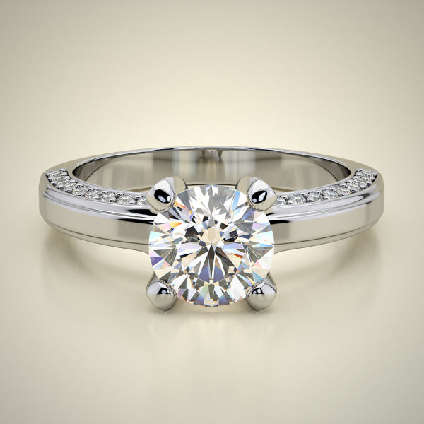 PAVE SOLITAIRE RING ENG085