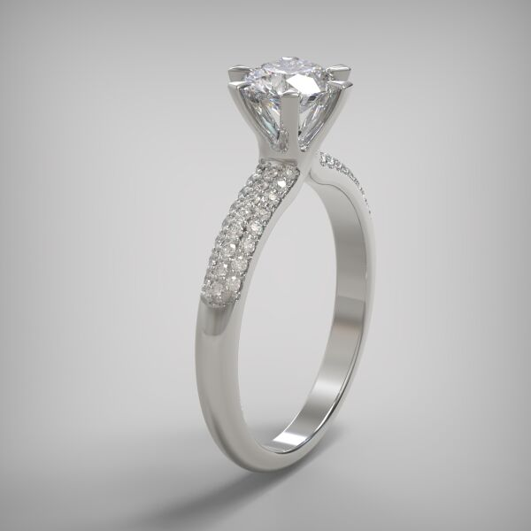 PAVE SOLITAIRE RING  LR245