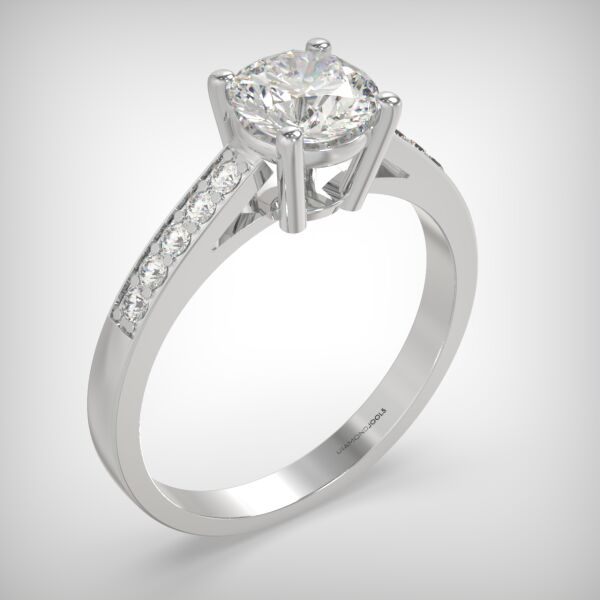 PAVE SOLITAIRE RING LR248