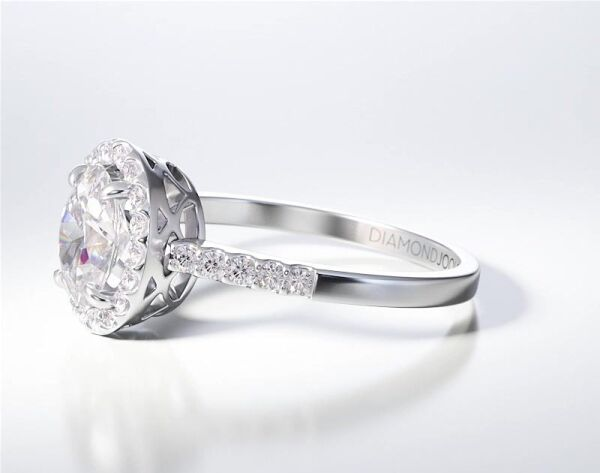 PAVE SOLITAIRE RING ENG057