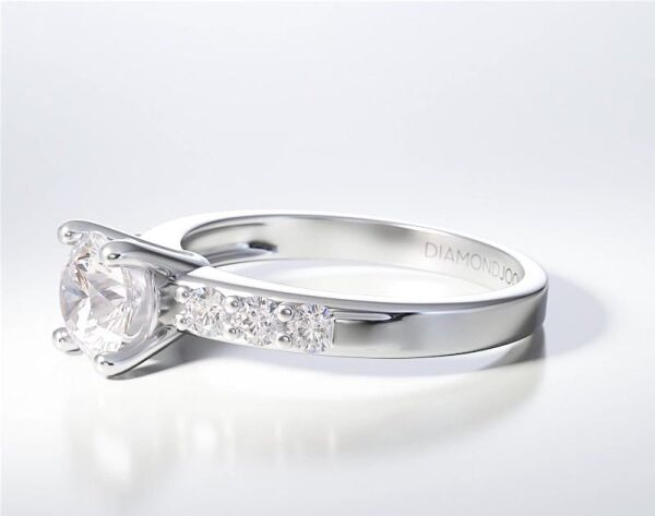PAVE SOLITAIRE RING ENG077