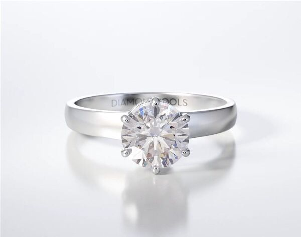 PAVE SOLITAIRE RING ENG018