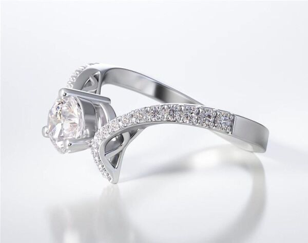 PAVE SOLITAIRE RING ENG030