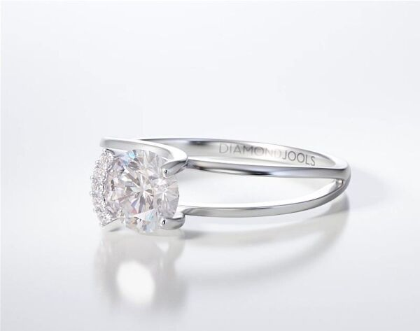PAVE SOLITAIRE RING ENG022