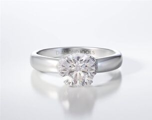 PAVE SOLITAIRE RING ENG020
