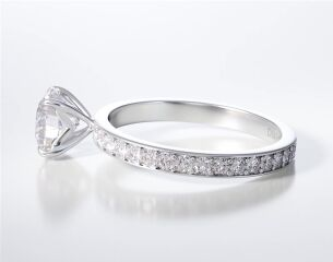 PAVE SOLITAIRE RING ENG010