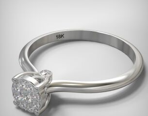 Invisible ring EM014-0,14CT