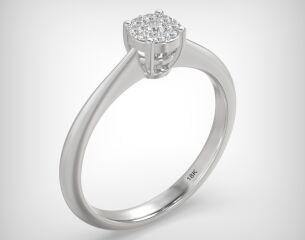 Invisible ring EM06-0.12ct