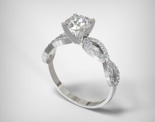 PAVE SOLITAIRE RING  LR250