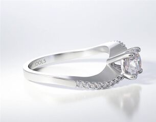 PAVE SOLITAIRE RING ENG076