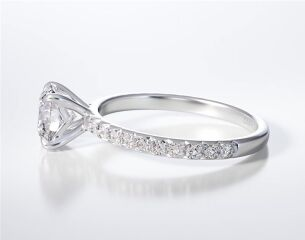 PAVE SOLITAIRE RING ENG03