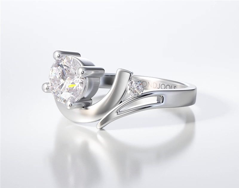 PAVE SOLITAIRE RING ENG028
